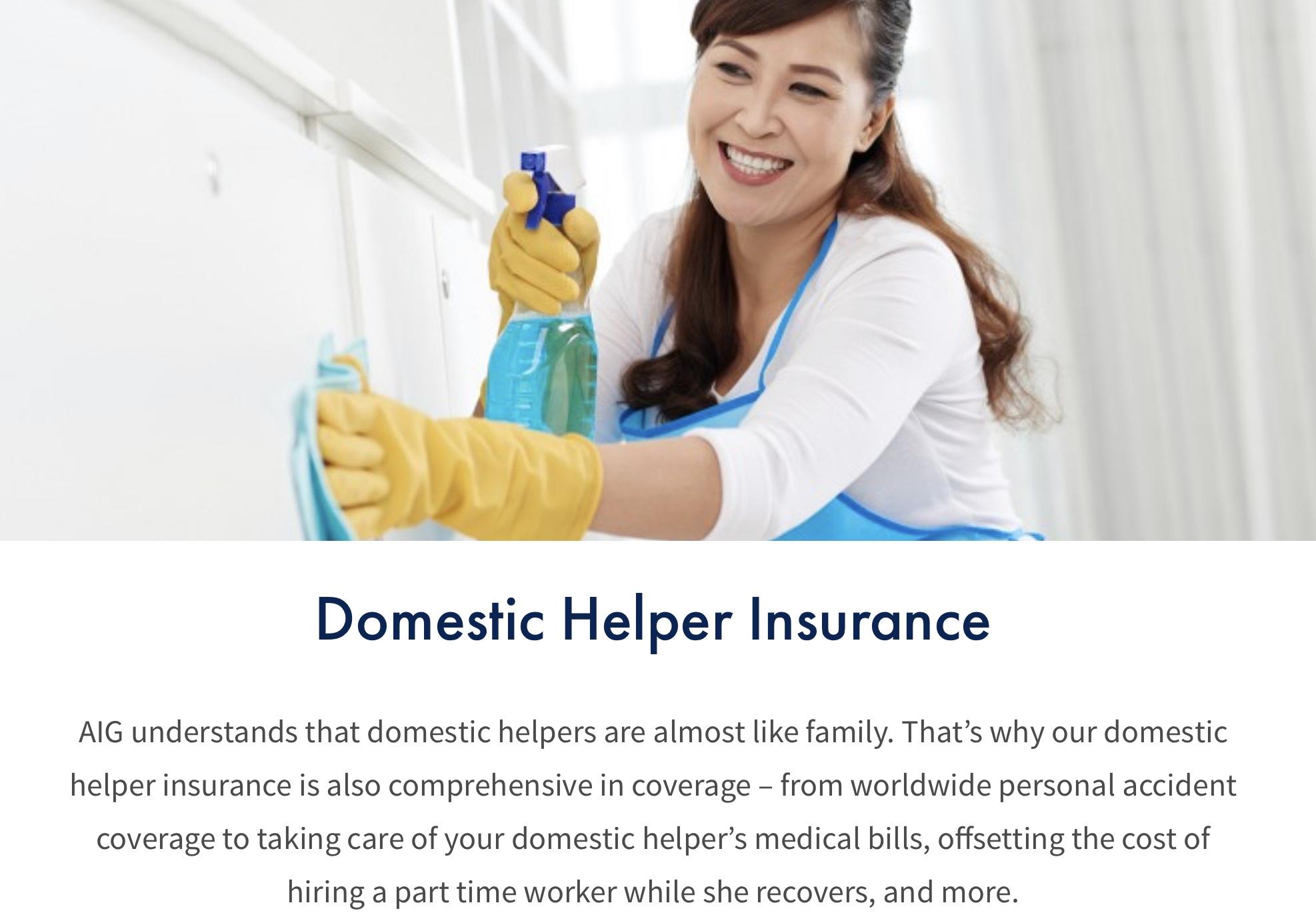 AIG's Domestic Helper Insurance