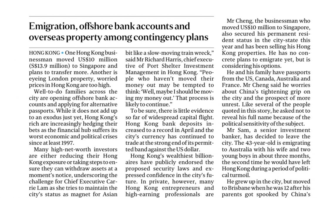 HK's Rich Moving Assets