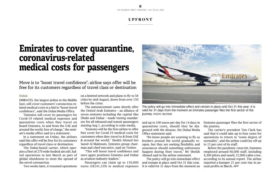 Travelling with Emirates