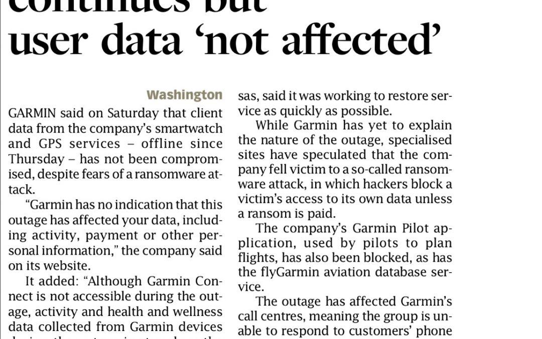 Garmin's Outage