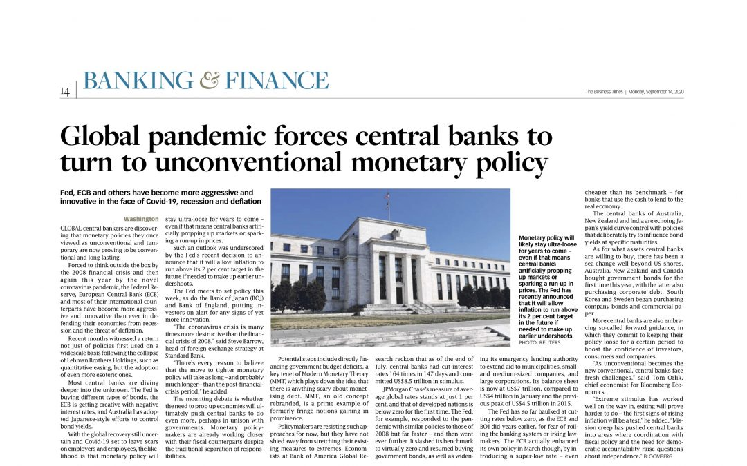 Central Banks Re-think Investments